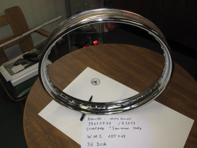 Steel rim, Sanremo, WM2 / 185x18, 36 holes