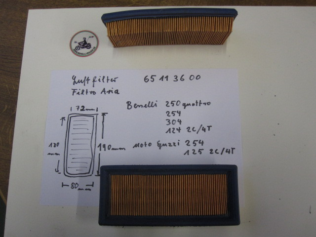 Air filter Benelli, Guzzi 65113600