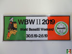World Benelli Weekend 2019 Aufkleber klein