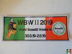 World Benelli Weekend 2019 Aufkleber groß